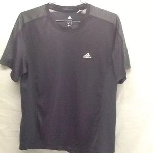 Adidas ClimaLite T-Shirt Black Gray Sz S Small